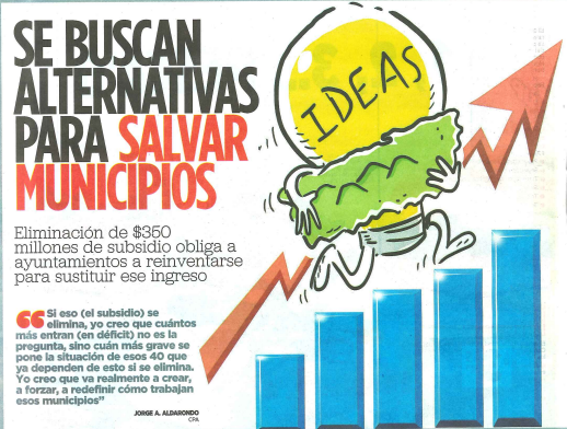 Se Buscan Alternativas para Salvar Municipios de Puerto Rico