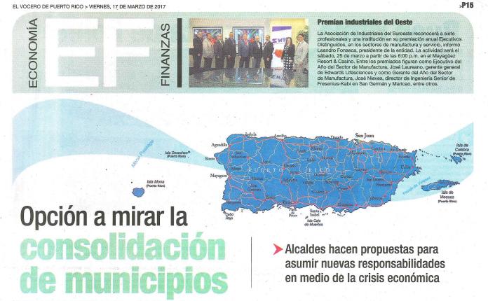 Opción a Mirar la Consolidación de Municipios en Puerto Rico